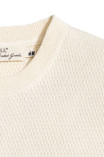 Jumper in a textured knit - Natural white - Men | H&M CN 3