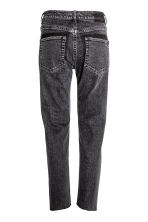 Straight Ankle Jeans - Nearly black - Ladies | H&M CN 3