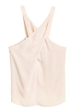 Wrapover top - Powder beige - Ladies | H&M CN 2