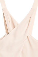 Wrapover top - Powder beige - Ladies | H&M CN 3