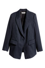 Blazer sciancrato - Blu scuro/righe - DONNA | H&M IT 2