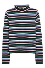 Striped turtleneck top - Multistriped - Ladies | H&M CA 2