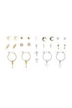 12 pairs earrings  - Gold/Silver - Ladies | H&M CN 1