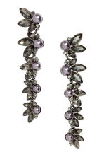 Long earrings with beads - Silver - Ladies | H&M CN 1