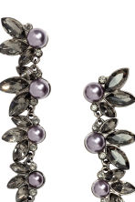 Long earrings with beads - Silver - Ladies | H&M CN 2