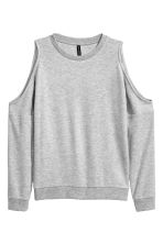Cold shoulder sweatshirt - Grey marl - Ladies | H&M CA 2
