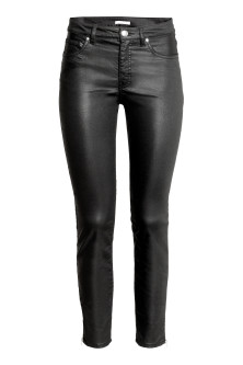 Coated superstretch trousers