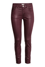 Coated superstretch trousers - Plum - Ladies | H&M CN 2