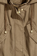 Cotton parka - Khaki green -  | H&M CN 3