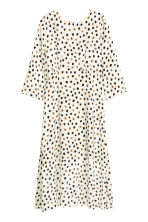 Patterned maxi dress - Nat. white/Spotted - Ladies | H&M CN 2