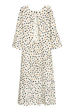 Patterned maxi dress - Nat. white/Spotted - Ladies | H&M CN 3