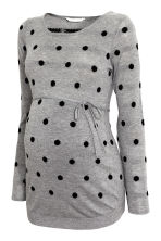 MAMA Fine-knit jumper - Grey/Spotted - Ladies | H&M CN 2