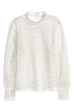 Lace blouse - White - Ladies | H&M GB 3