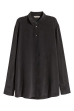 Silk blouse - Black - Ladies | H&M CN 2