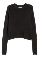 Ribbed wrapover jumper - Black - Ladies | H&M CN 2