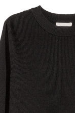 Ribbed wrapover jumper - Black - Ladies | H&M CN 3