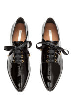 Patent leather Oxford shoes - Black - Ladies | H&M CA 2