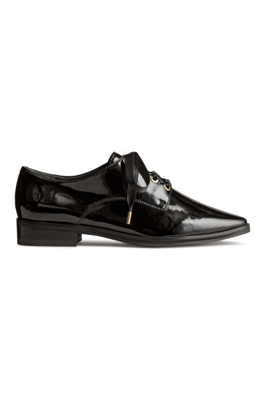 Patent leather Oxford shoes - Black - Ladies | H&M CA 1