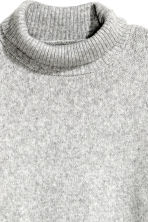 Long polo-neck jumper - Light grey marl - Ladies | H&M CN 3
