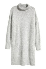 Long polo-neck jumper - Light grey marl - Ladies | H&M CN 2