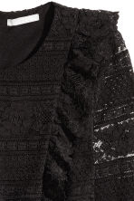 Flounced lace top - Black - Ladies | H&M CN 3