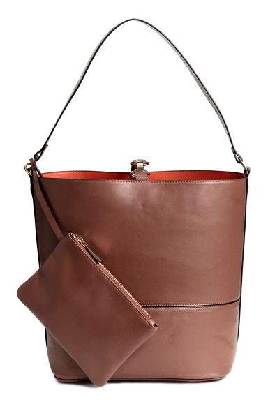 Bucket bag with a clutch - Brown - Ladies | H&M CN 1
