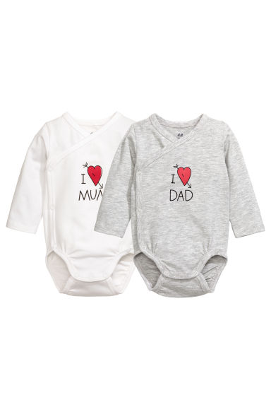 2-pack bodysuits - White - Kids | H&M CN 1