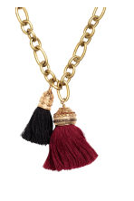 Necklace with tassels - 酒红/金色 - Ladies | H&M CN 2