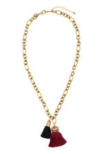 Necklace with tassels - 酒红/金色 - Ladies | H&M CN 1