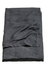 Washed linen bedspread - Anthracite grey - Home All | H&M CN 1