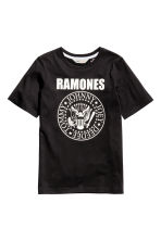 Printed T-shirt - Black/Ramones - Kids | H&M CN 2