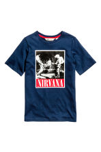 Printed T-shirt - Dark blue/Nirvana -  | H&M CN 2