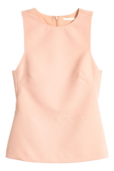 Sleeveless top - Powder - Ladies | H&M CN 1