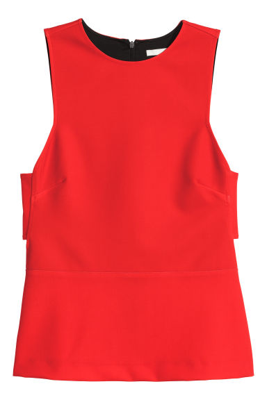 Sleeveless top - Red - Ladies | H&M CN 1