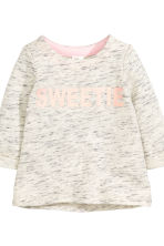 Jersey set - Light beige marl - Kids | H&M CN 3