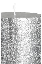 Stort blockljus - Silver/Glittrig - Home All | H&M FI 3