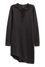 Jersey dress with lacing - Black - Ladies | H&M CN 2