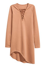 Jersey dress with lacing - Beige - Ladies | H&M CN 2
