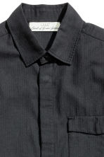 Herringbone-patterned shirt - Black - Men | H&M CN 3