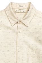 Textured-weave cotton shirt - Light beige marl - Men | H&M CN 3