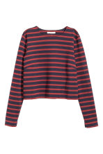 Cropped top - Dark blue/Striped - Ladies | H&M CN 2