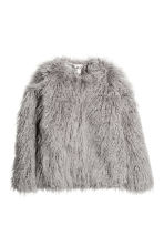 Faux fur jacket - Grey - Ladies | H&M GB 2