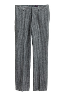 Pinstriped suit trousers