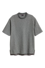 Wool-blend T-shirt - Grey/Striped - Men | H&M CN 2