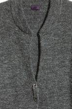Cardigan in an alpaca blend - Dark grey marl - Men | H&M CN 3