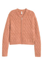 Knitted cardigan - Old rose - Ladies | H&M CN 2