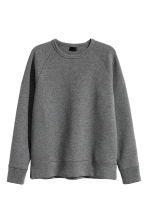Scuba jersey sweatshirt - Dark grey marl - Men | H&M CN 2