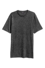 T-shirt in misto lana - Nero mélange - UOMO | H&M IT 2