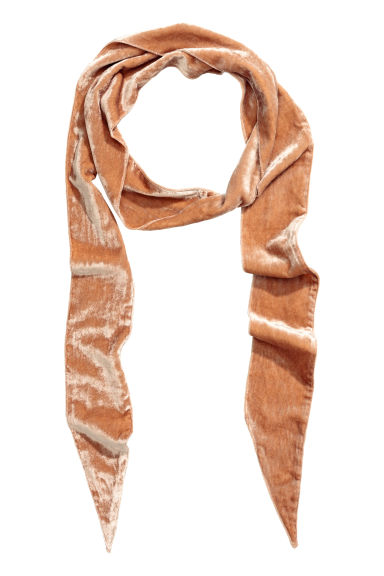 Velour scarf - Camel - Ladies | H&M CN