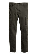Cargo trousers Slim fit - Dark khaki green - Men | H&M 2